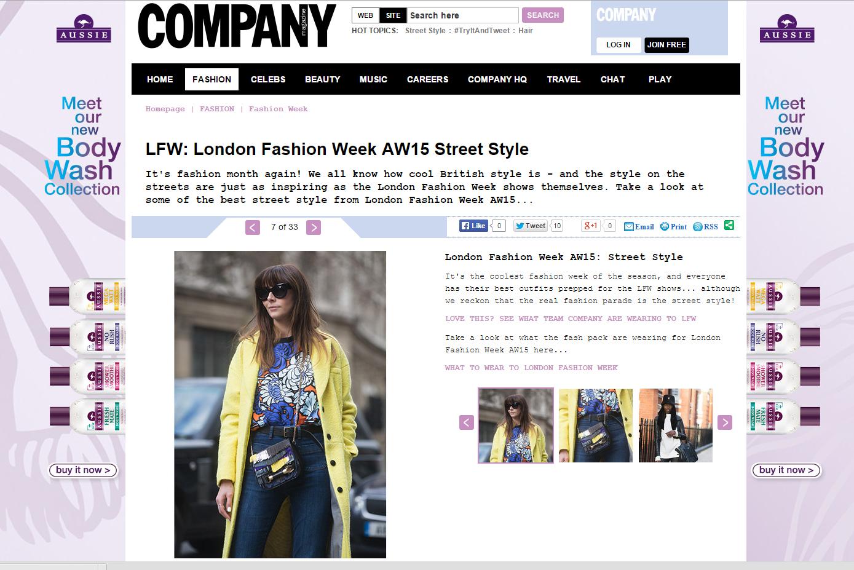 Company online LFW street style feb 15'