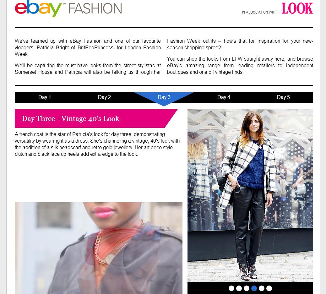 Look Magazine eBay fashion LFW Feature