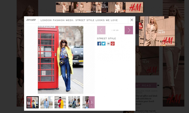 Stylist mag online LFW Feb 15'