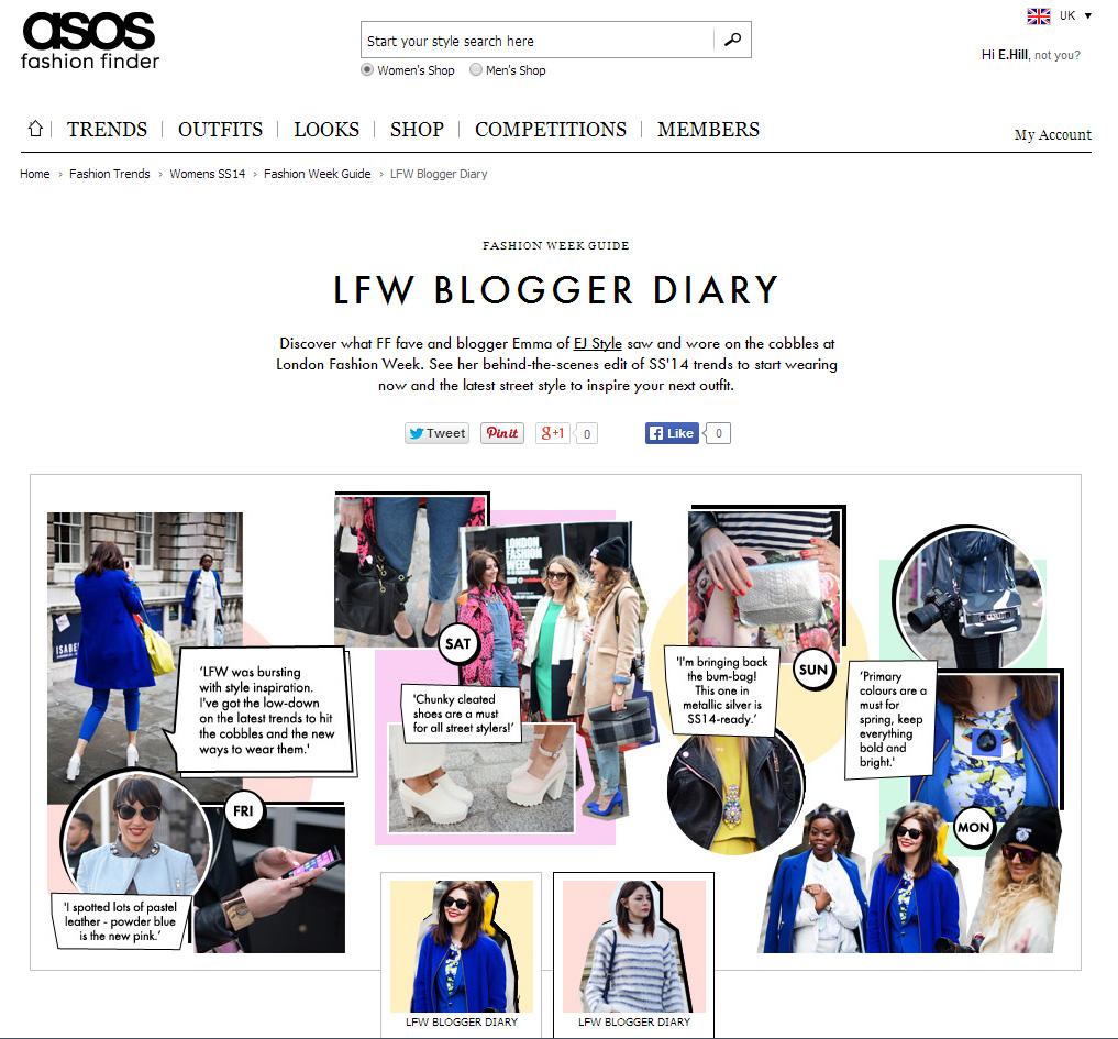 asos FF LFW blogger diarty part 2 Feb 14