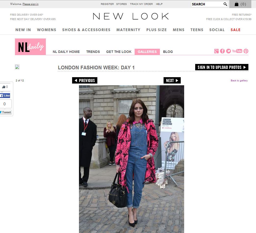 new look social LFW Feb 14