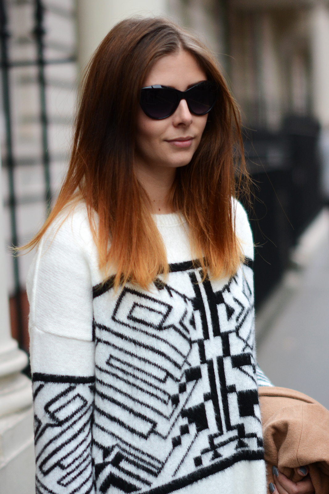 EJSTYLE - River Island aztec geometric sweater jumper, Isabel Marant dupe