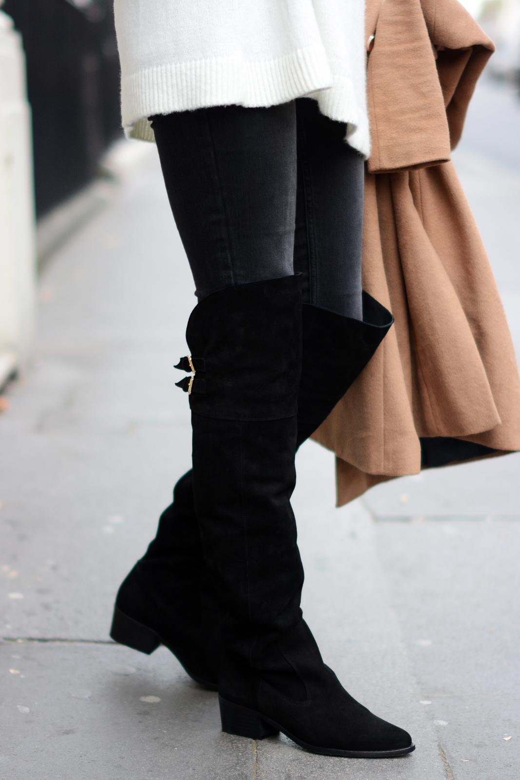 EJSTYLE - Schuh Spark OTK black suede flat boots