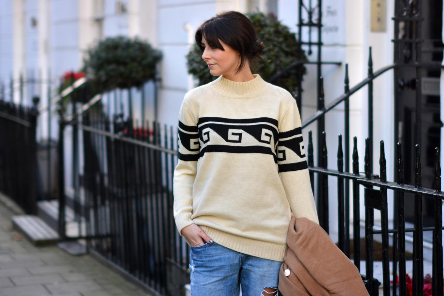 EJSTYLE - Forever 21 Aztec key jumper, Isabel marant style, street style london