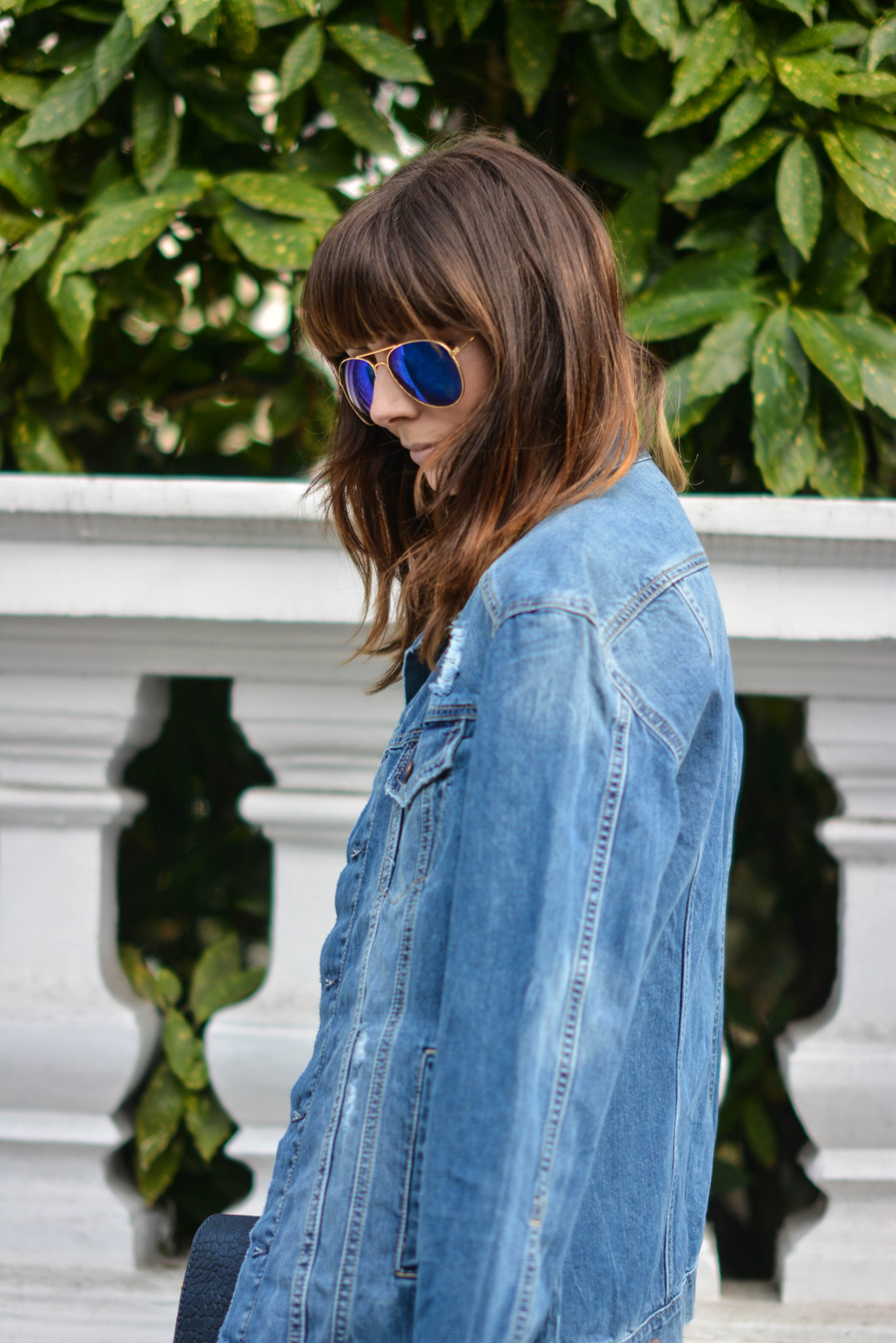 EJSTYLE - Emma Hill, H&M denim jacket, polarised ray bans, OOTD