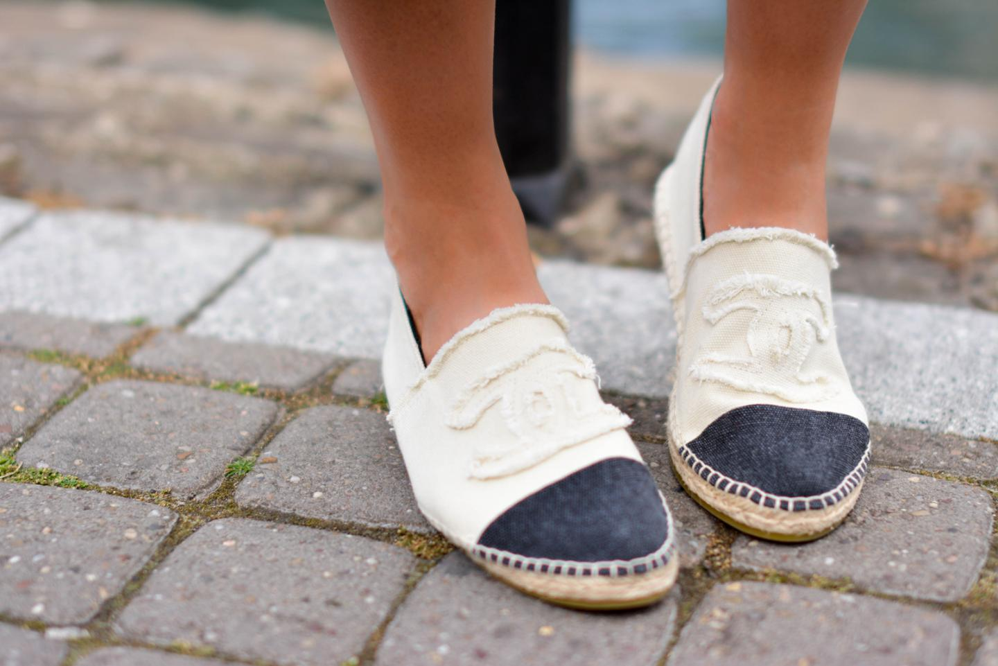 EJSTYLE - Chanel canvas espadrilles