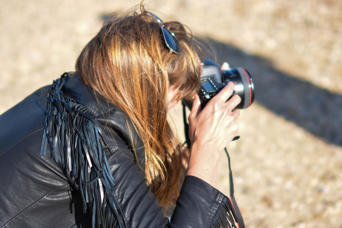 EJSTYLE - Emma Hill wears Next faux leather black fringe jacket, blogger in action
