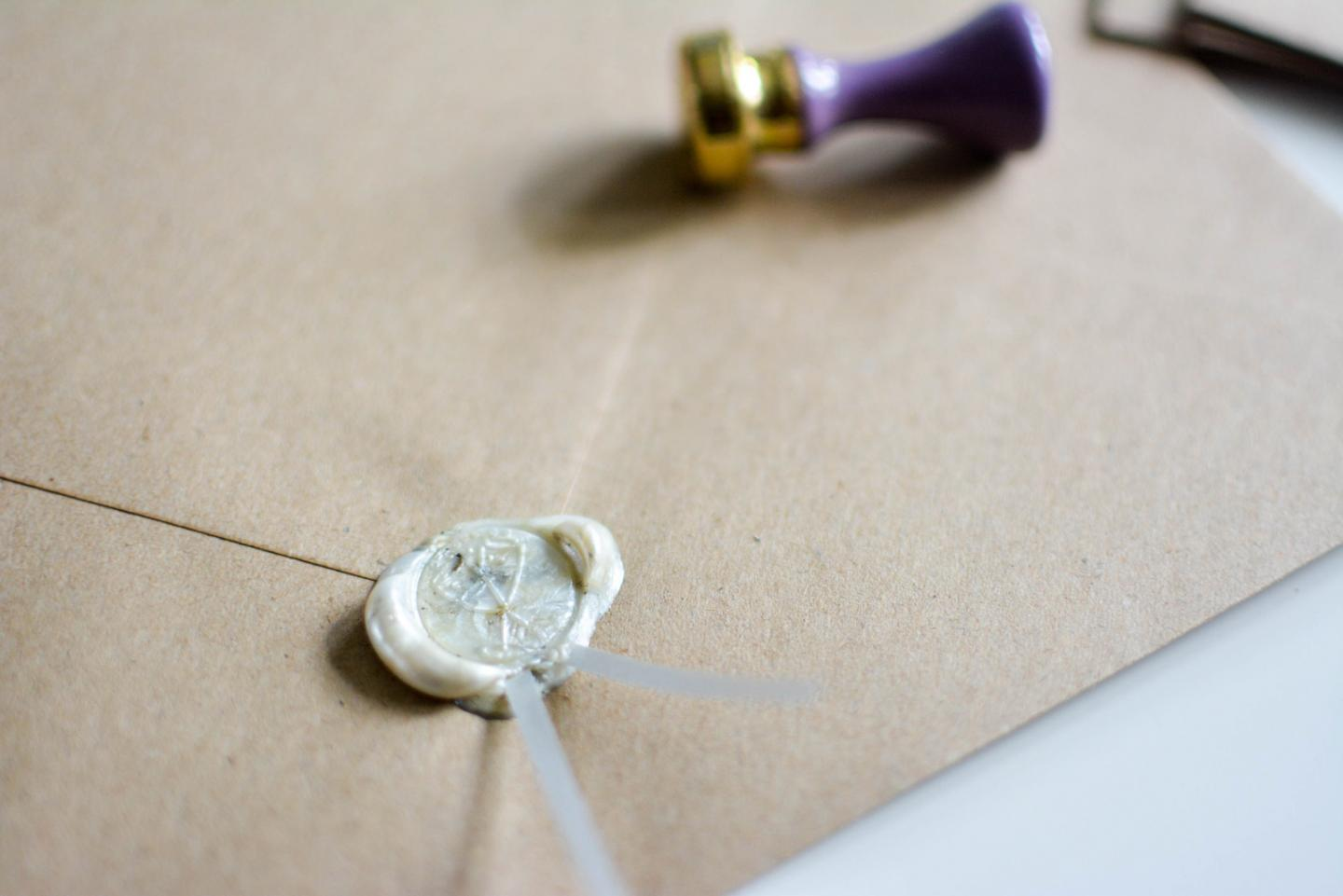 EJSTYLE Wedding - Wax seal stamp for wedding invitations