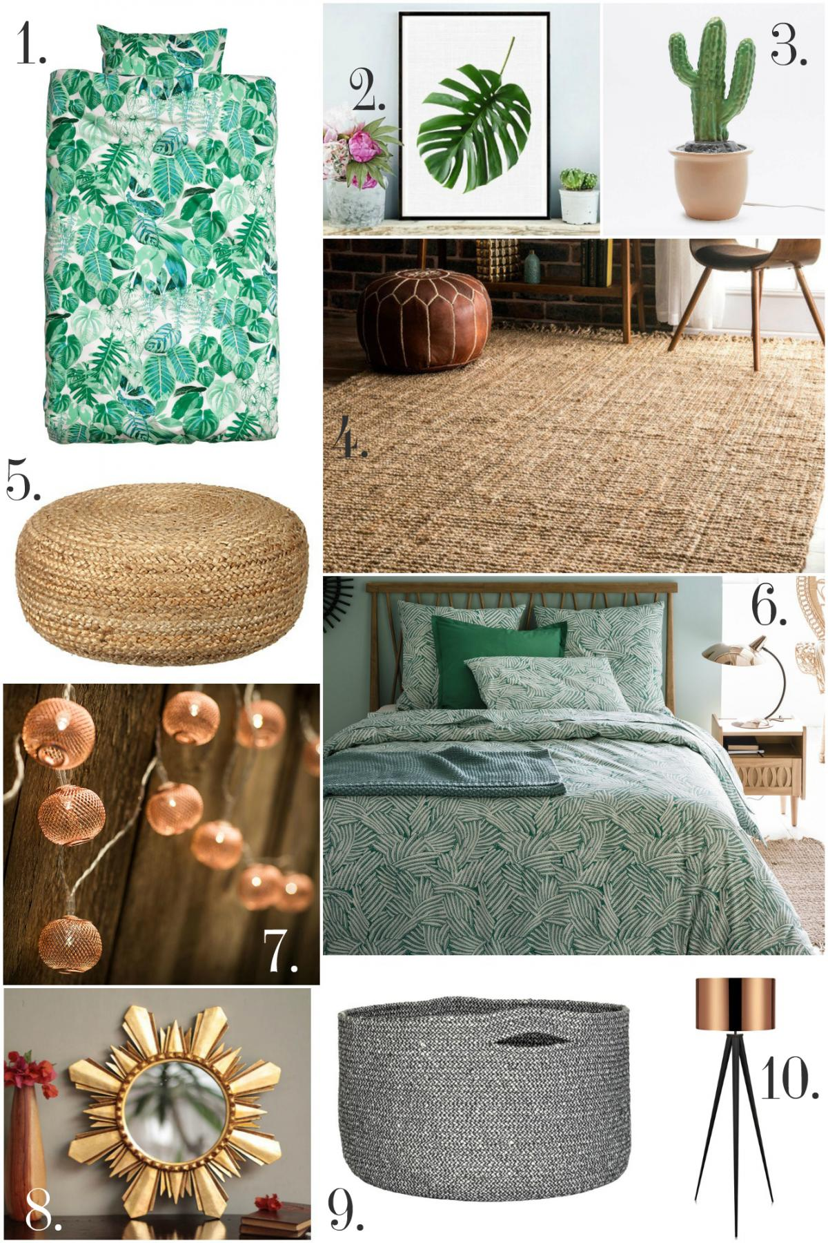 Home Trend- LA Cool Bedroom products
