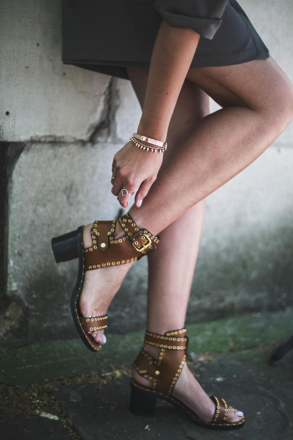 isabel marant tan leather sandals-2