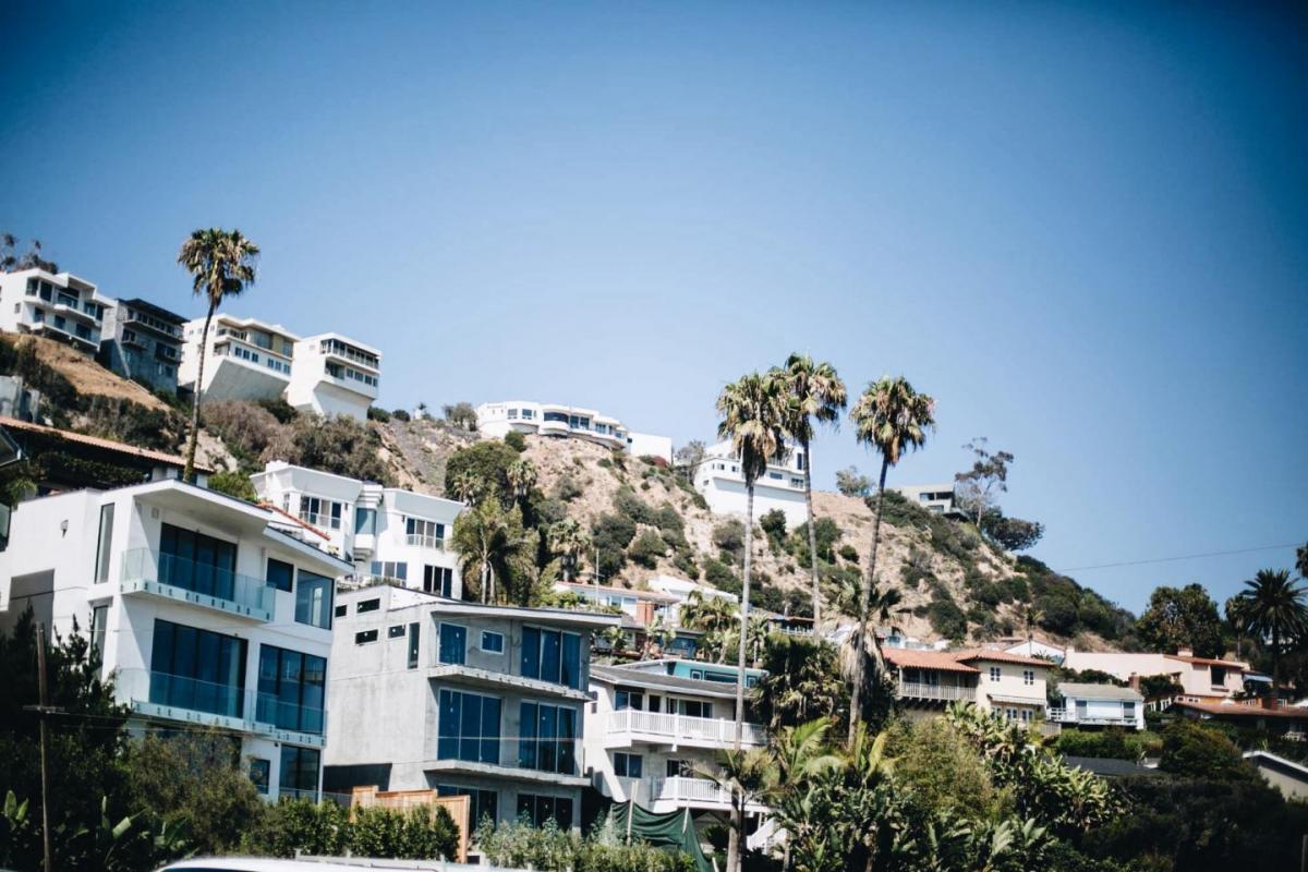 Malibu, California, Los Angeles, LA, Houses, palm trees, wanderlust