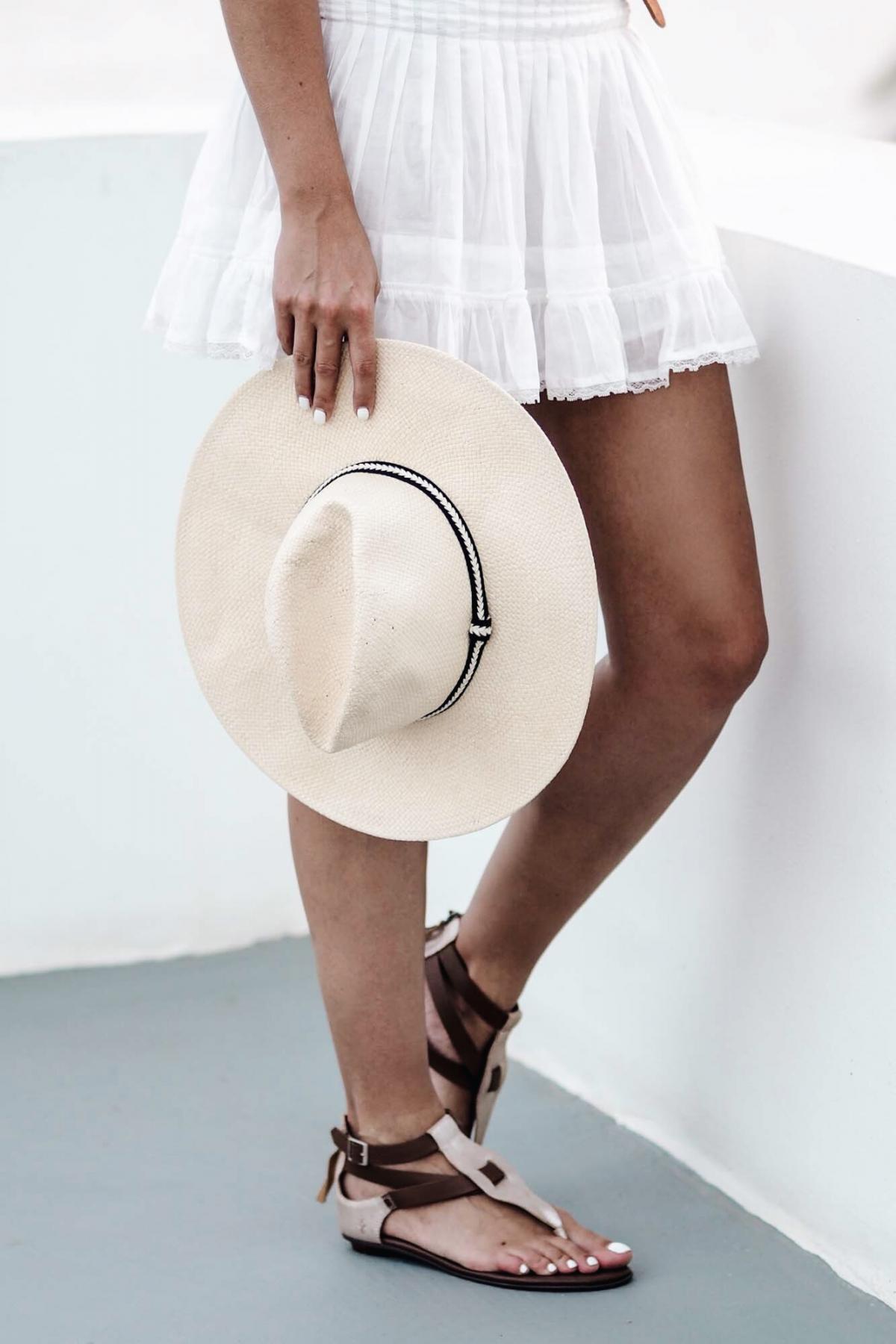 white summer dress, tan belt, tan gold sandals, fashion, summer style