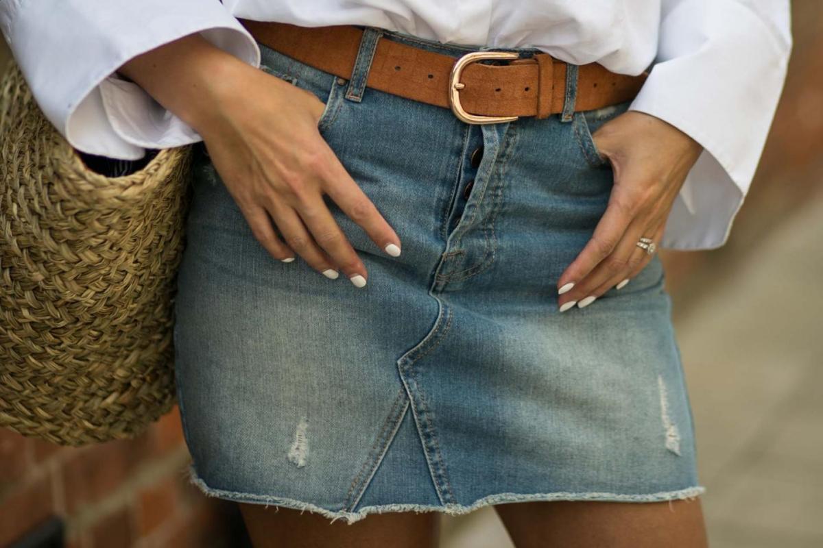 white shirt, denim skirt-16