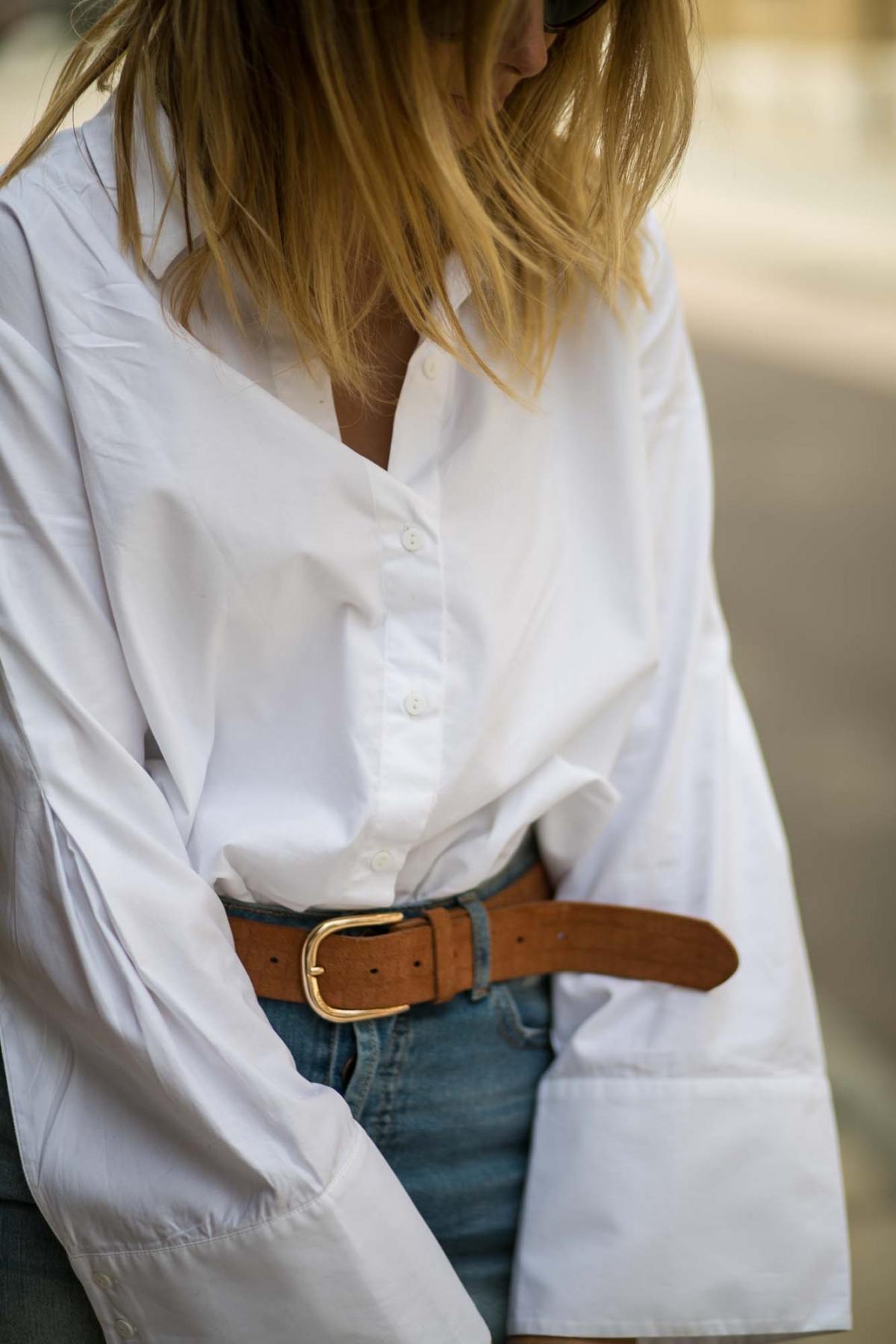 white shirt, denim skirt-4