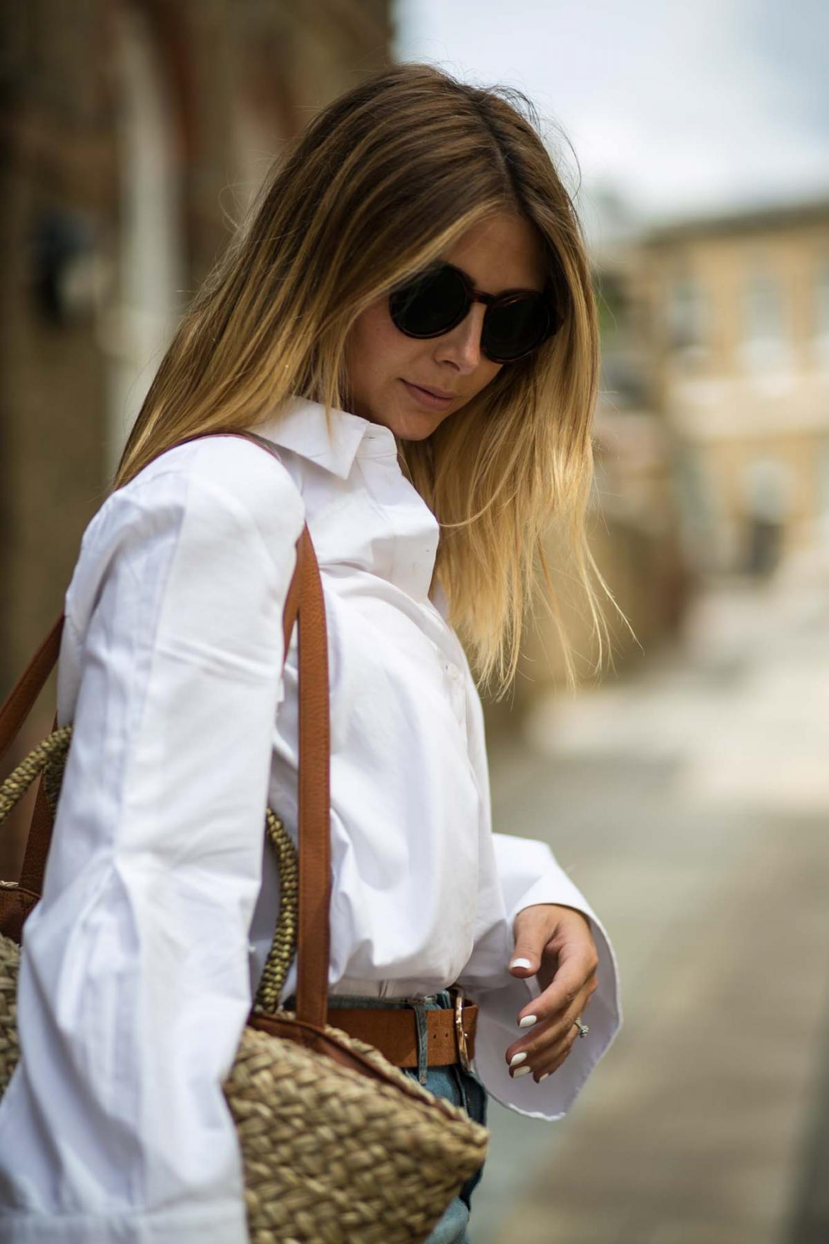 white shirt, denim skirt-6