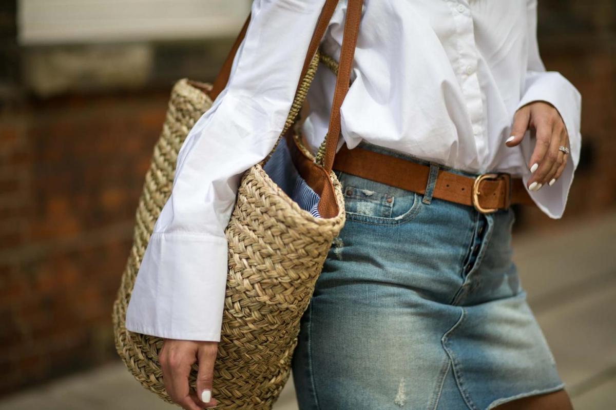 white shirt, denim skirt-7