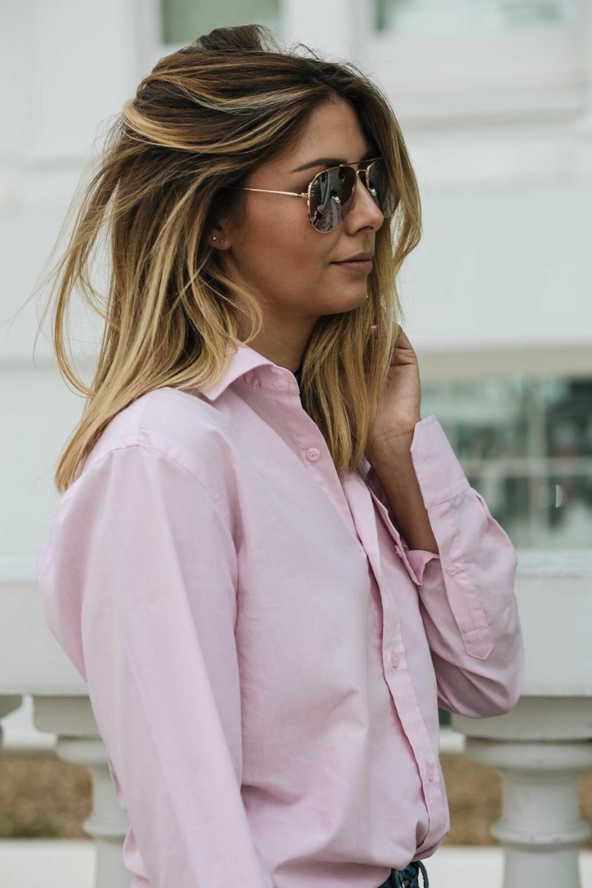 street style, pink mens shirt, fashion blogger