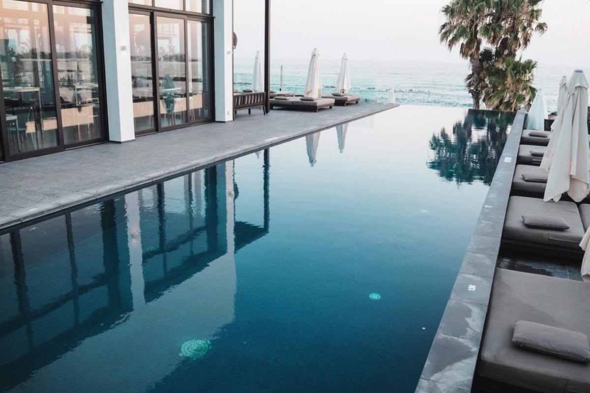 Almyra hotel & spa, paphos, cyprus, infinity pool, swimming pool