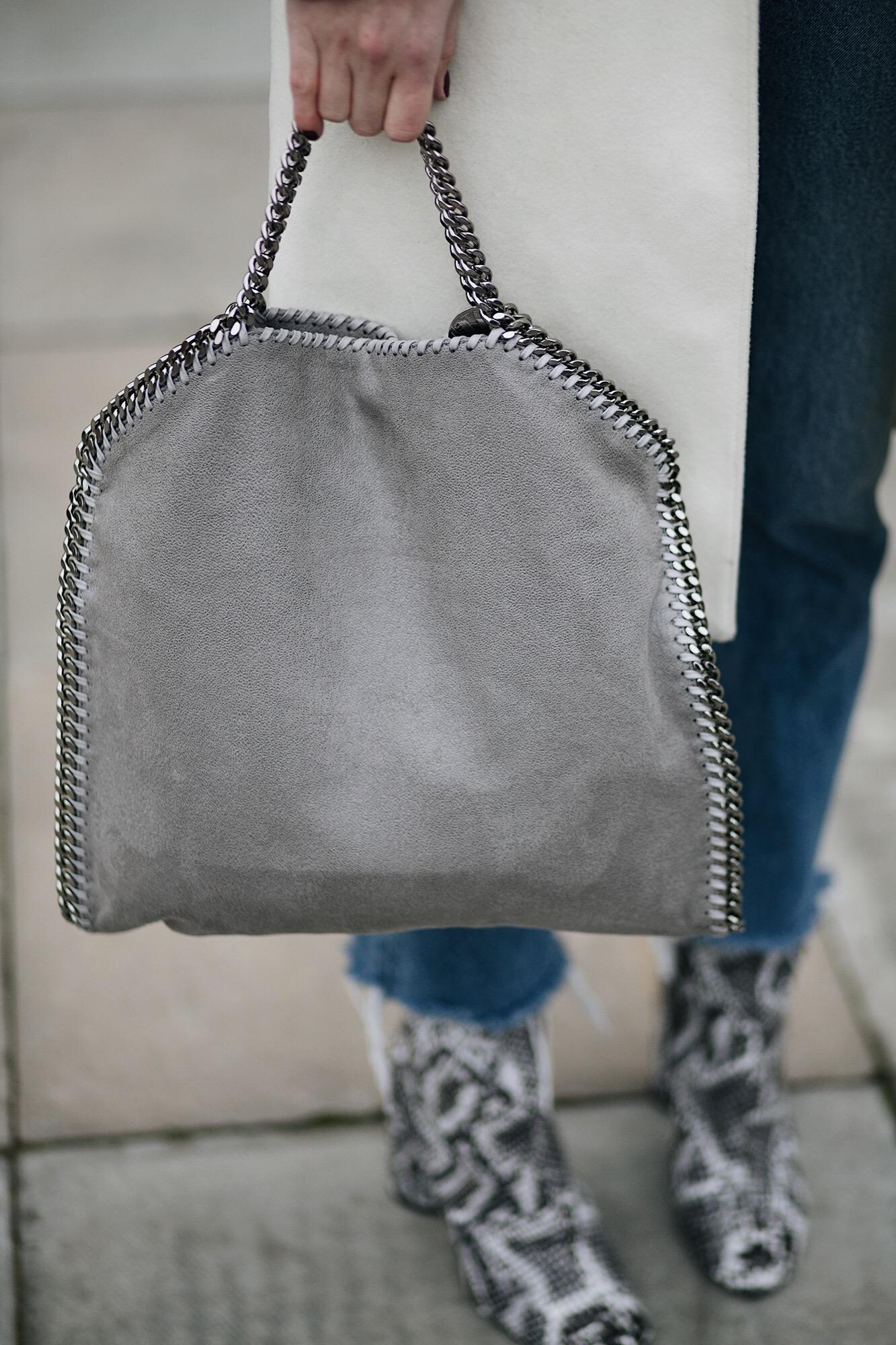 grey stella McCartney Falabella bag