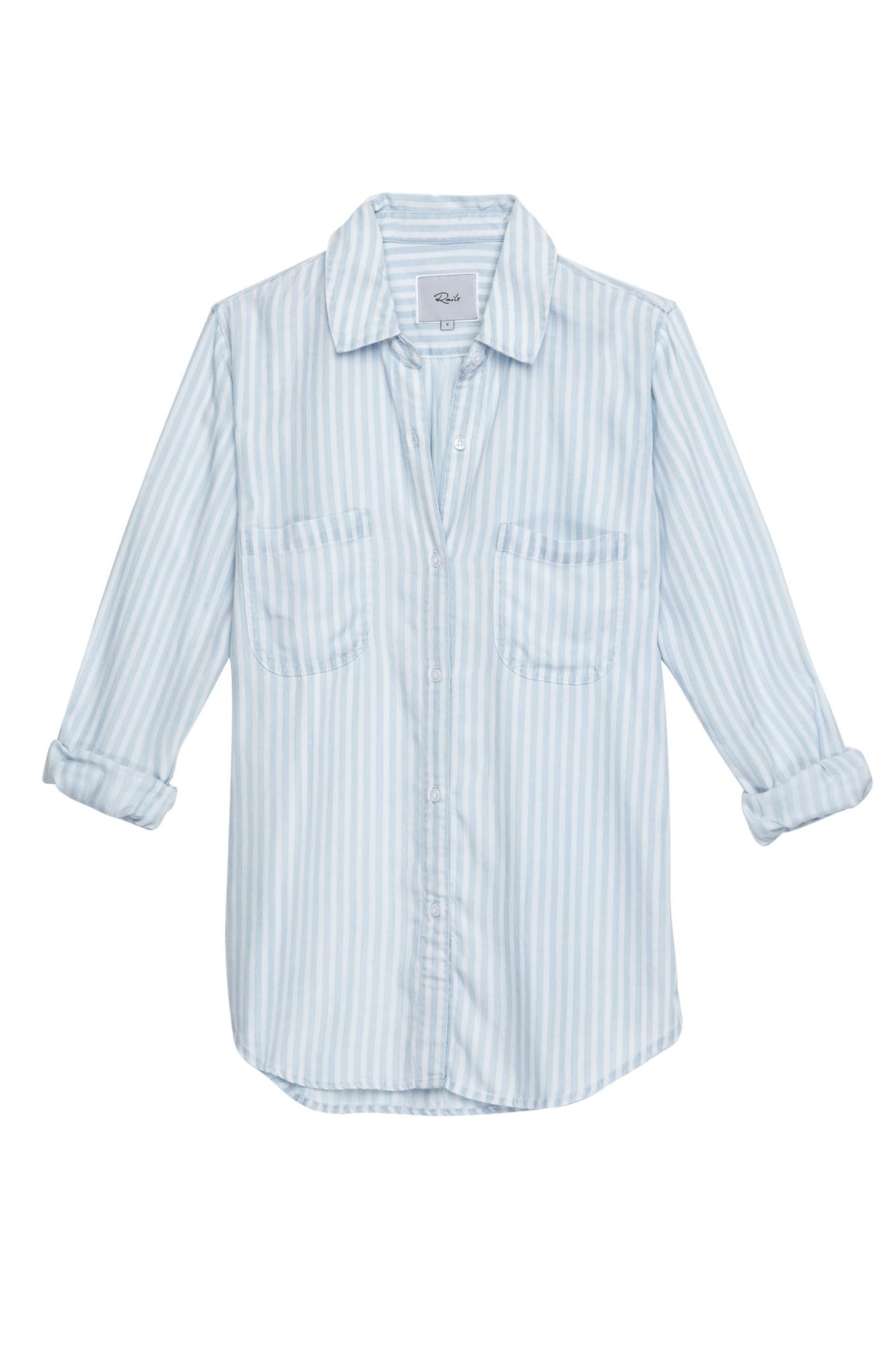 Rails light blue stripe shirt
