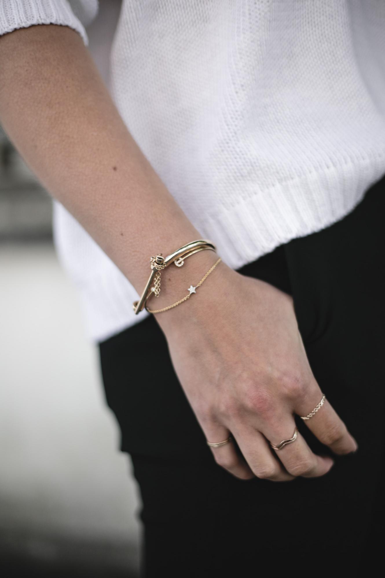 gold stacked bracelets