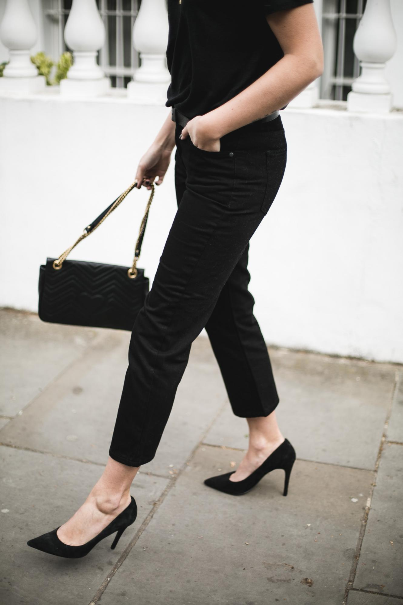 Emma Hill wearing an all black outfit for Spring