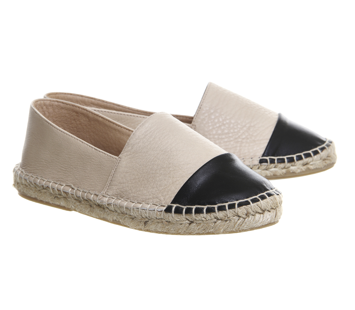 Office leather espadrilles