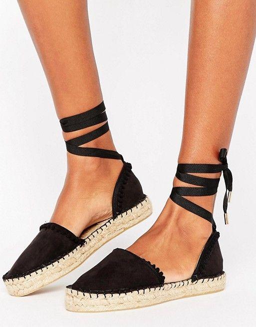 Miss KG Dizzy ankle tie espadrilles