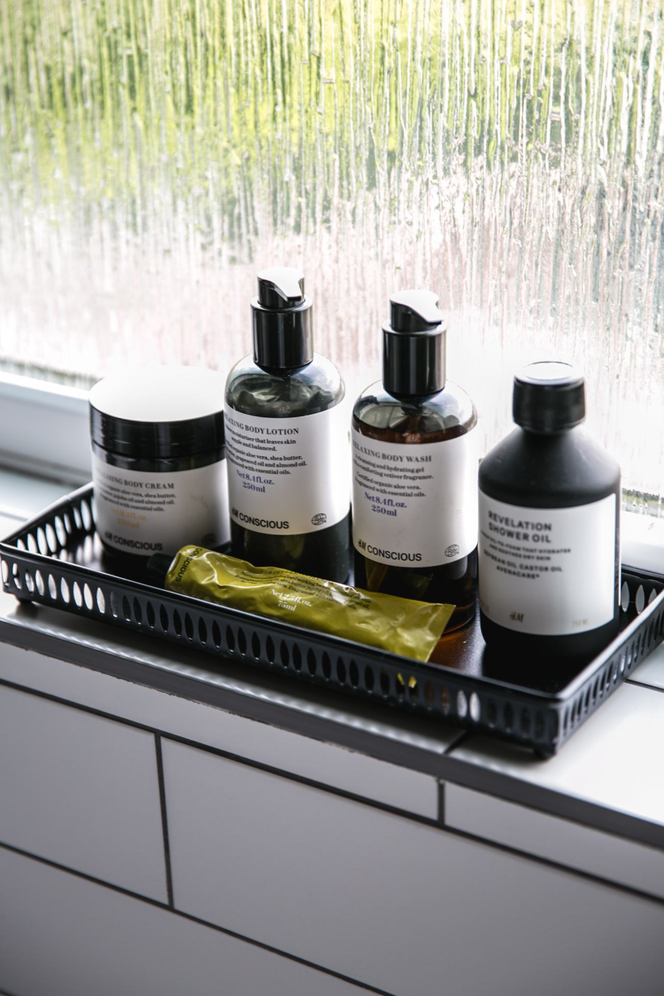 H&M conscious beauty bathroom products