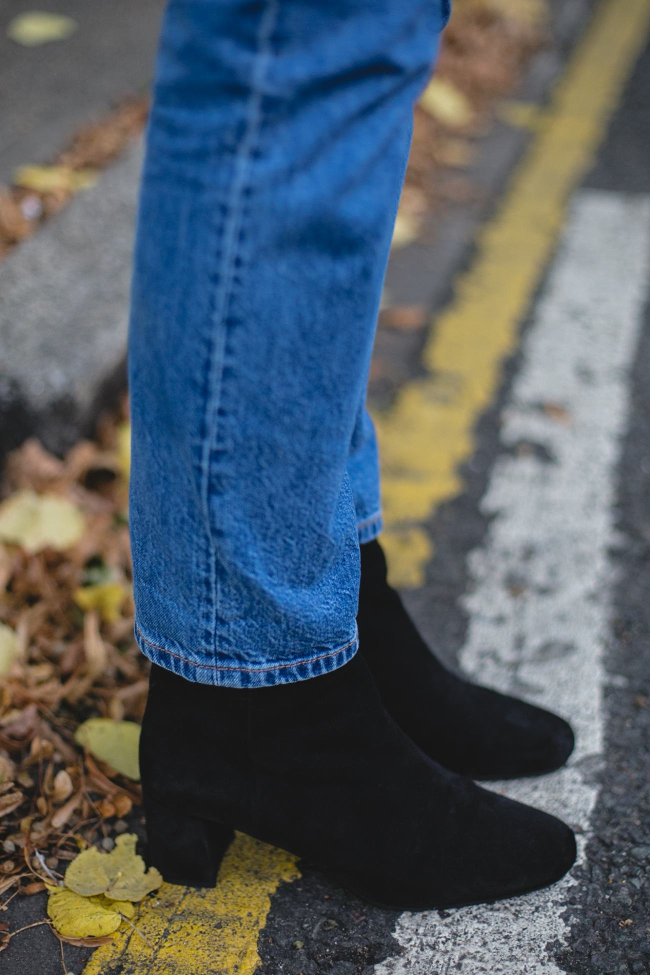 Autumn Wardrobe Staples | Emma Hill wears Prada black ankle boots