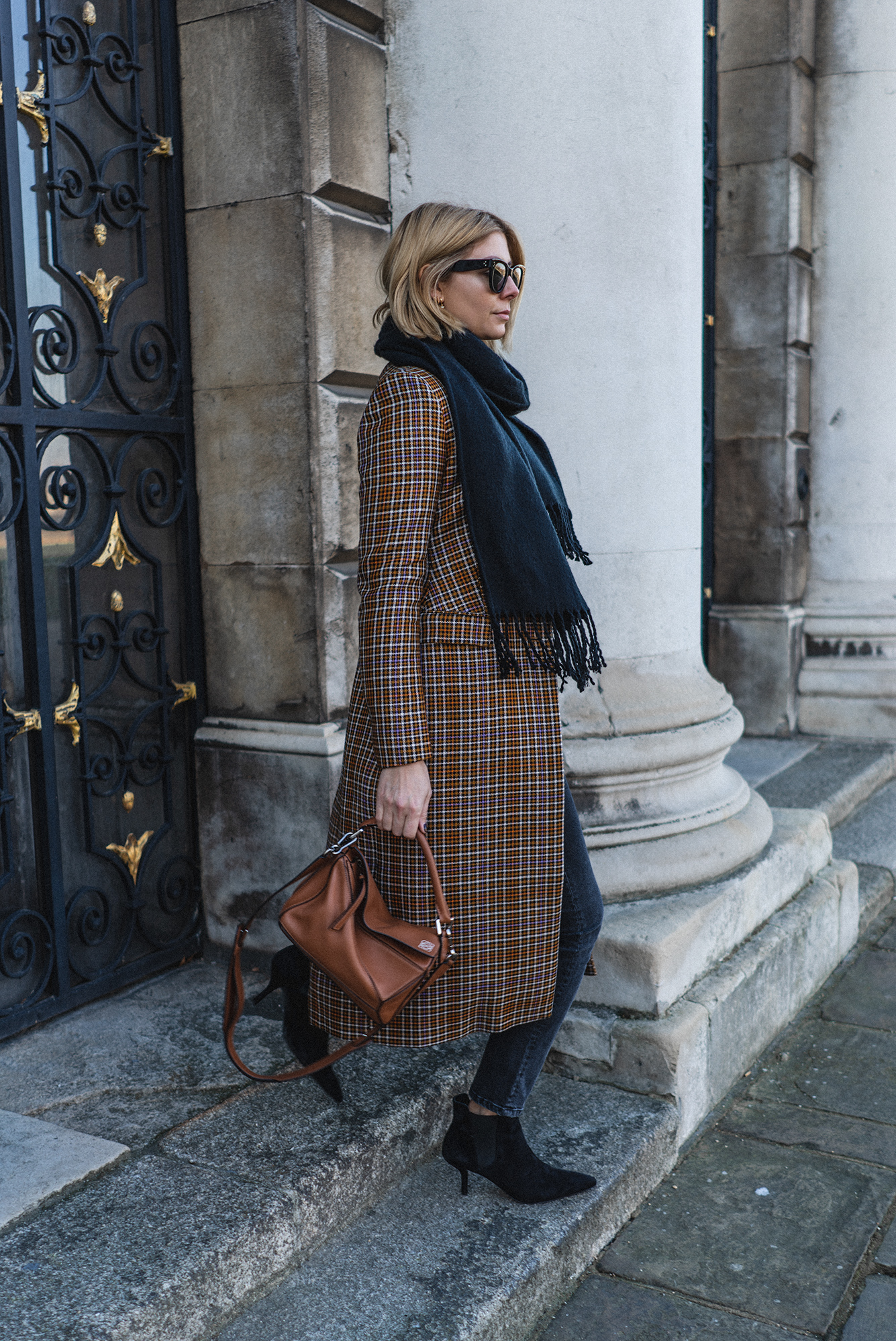 And Other Stories plaid coat