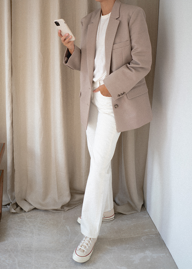 summer neutral outfit blog